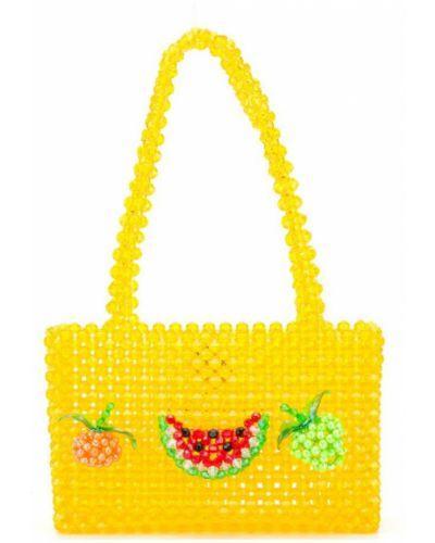 Желтая сумка с ручками Susan Alexandra