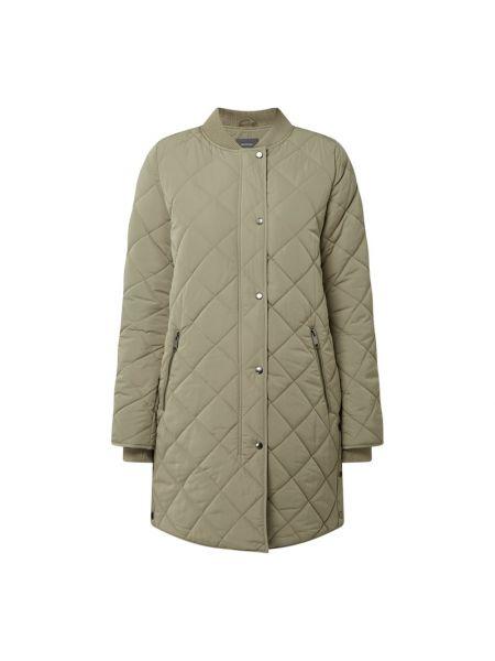 Zielony płaszcz ze stójką Montego
