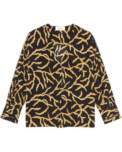 Czarna bluzka z długimi rękawami Ba&sh