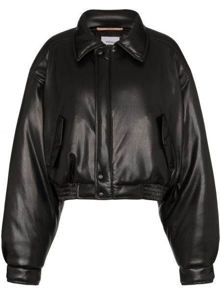 Куртка черная на пуговицах Nanushka