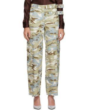 Серебряные нейлоновые брюки стрейч свободного кроя Miaou
