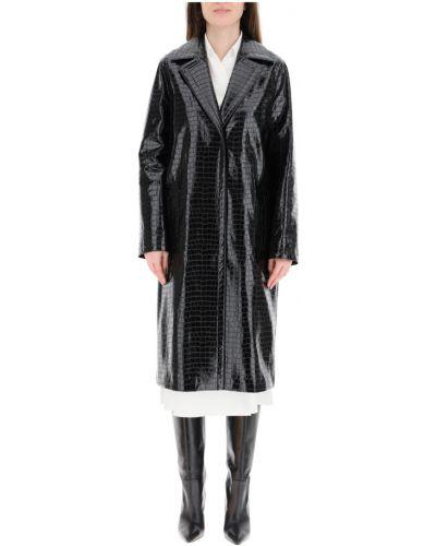 Czarny płaszcz skórzany Stand Studio