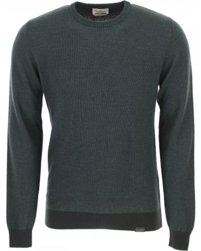 Zielony sweter bawełniany z długimi rękawami Brooksfield
