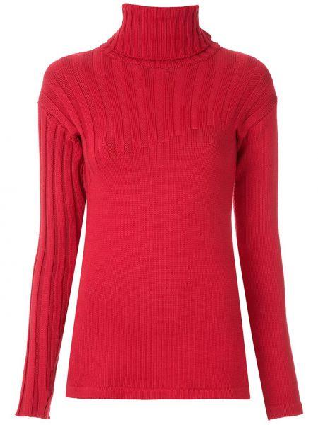 С рукавами красная блузка с длинным рукавом узкого кроя из вискозы Gloria Coelho