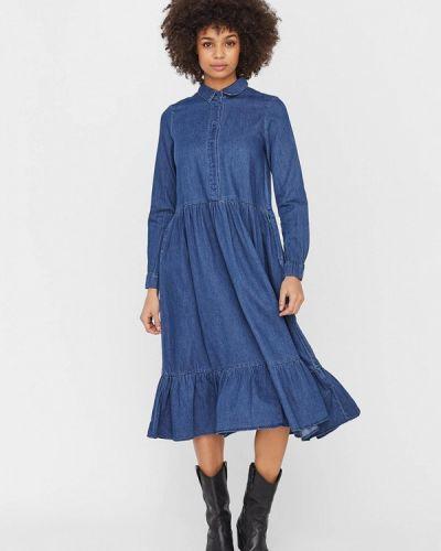 Синее джинсовое платье Vero Moda