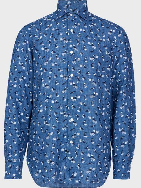 Рубашка на пуговицах - синяя Barba Napoli