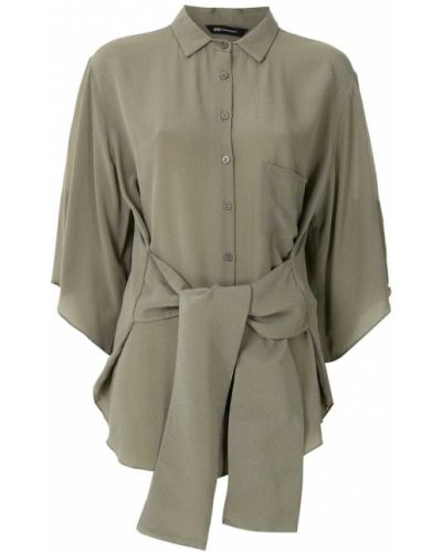 Шелковая классическая блузка с воротником свободного кроя Uma   Raquel Davidowicz
