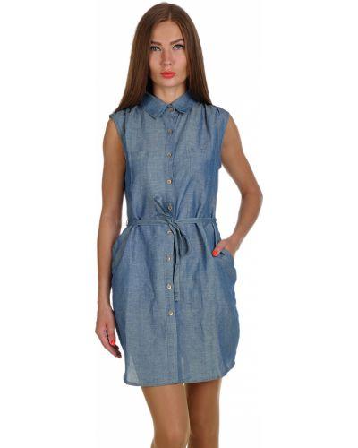 Хлопковое платье - синее Daniele Fiesoli