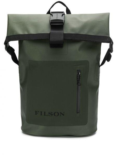 Zielony plecak klamry Filson