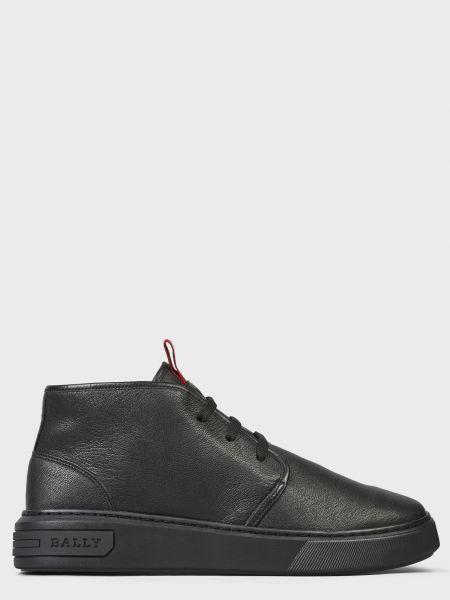 Кожаные ботинки - черные Bally