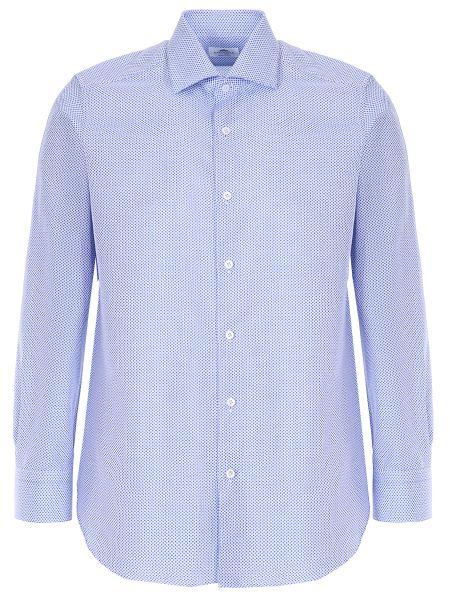 Хлопковая рубашка с манжетами с воротником на пуговицах Castangia
