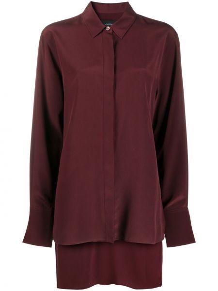 Шелковая красная классическая рубашка с воротником Joseph