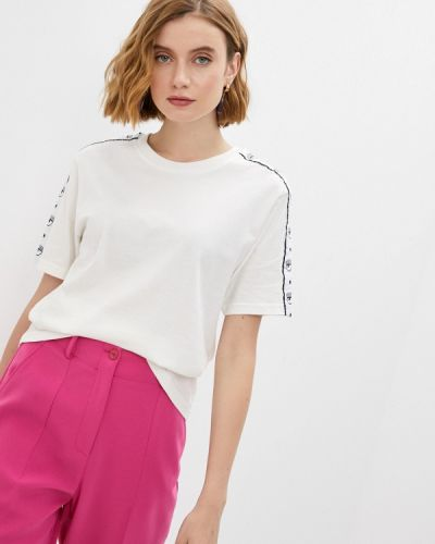 С рукавами белая футболка Chiara Ferragni Collection