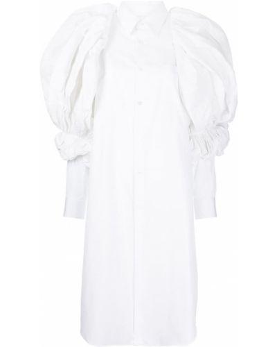 Длинная рубашка - белая Comme Des Garçons
