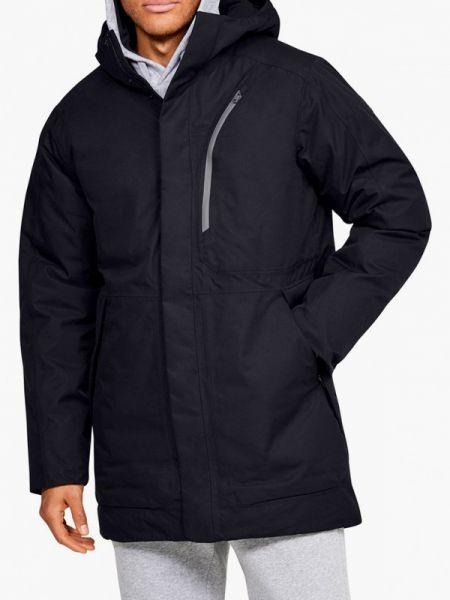 Длинная черная куртка осенняя средняя Under Armour