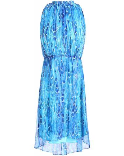 Синее шифоновое платье мини Elie Tahari