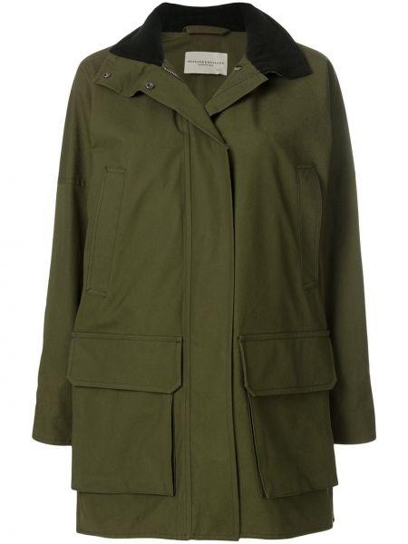 Шерстяное пальто с капюшоном айвори с карманами Holland & Holland