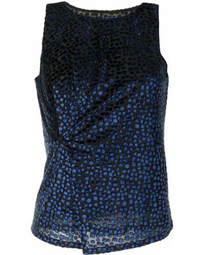 Топ с вырезом - синий Emporio Armani