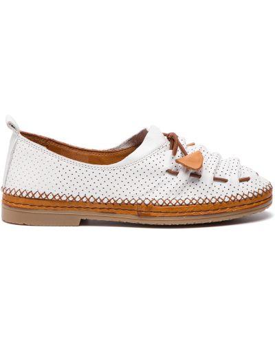 Туфли на каблуке - белые Manitu