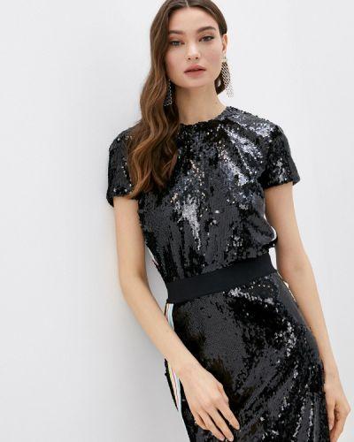 Черная блузка с короткими рукавами Trussardi