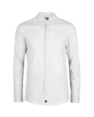 Хлопковая белая рубашка Strellson