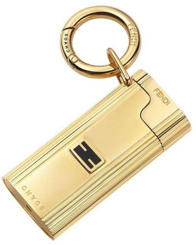 Золотистая домашняя зажигалка золотая Fendi