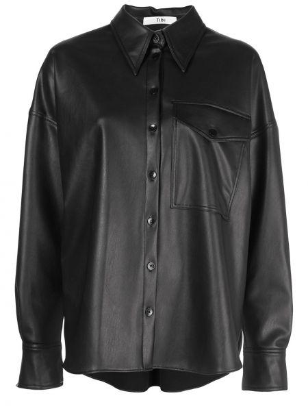 Koszula z długimi rękawami - czarna Tibi