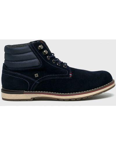 Кожаные ботинки высокие замшевые Big Star
