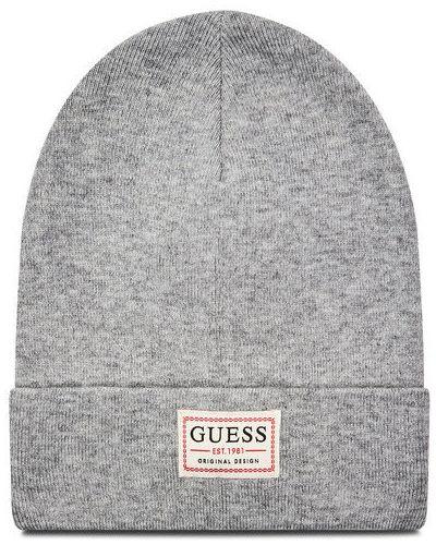Szary czapka baseballowa Guess