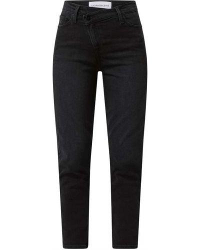 Czarne mom jeans bawełniane Calvin Klein Jeans