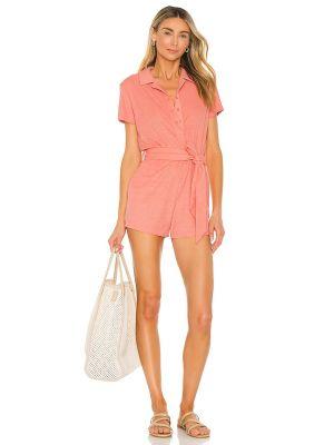 Розовый текстильный ромпер с карманами Lovers + Friends