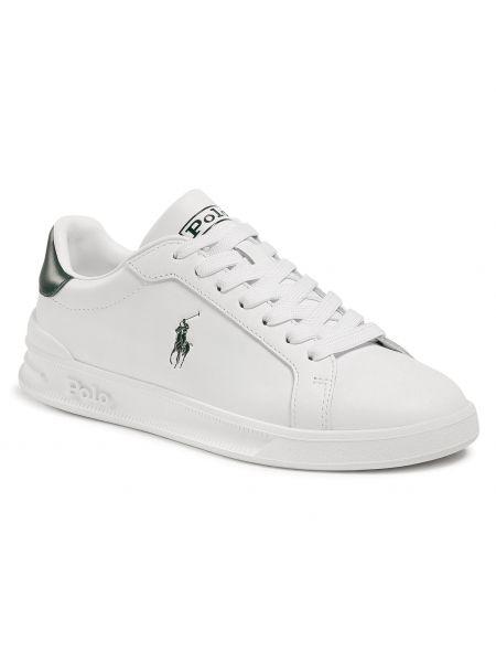 Buty sportowe skorzane - białe Polo Ralph Lauren