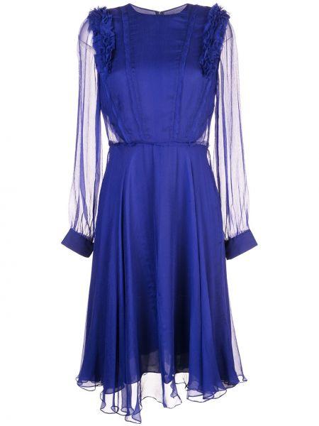 Платье миди на пуговицах с прозрачными рукавами Jason Wu