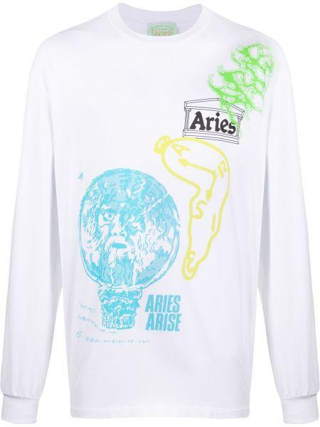 Koszula z długim rękawem długa z nadrukiem Aries
