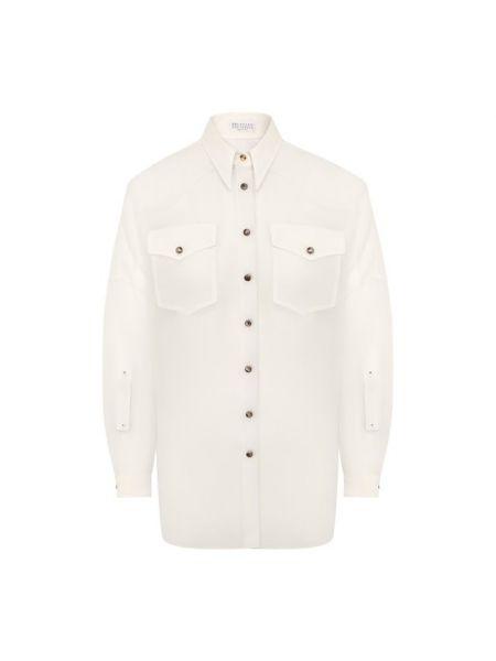 Рубашка шелковая Brunello Cucinelli