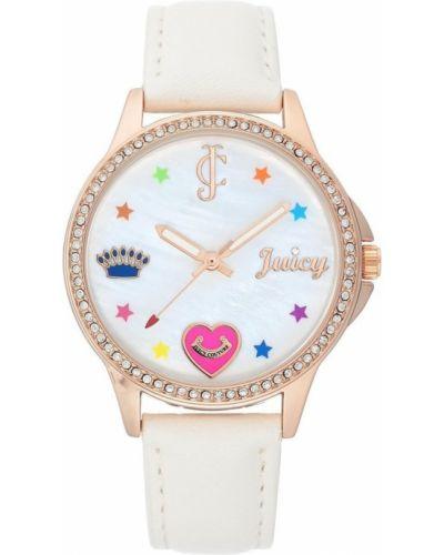 Zegarek na skórzanym pasku - biały Juicy Couture