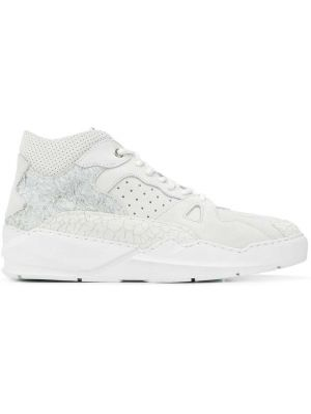 Skórzane sneakersy białe perforowany Filling Pieces