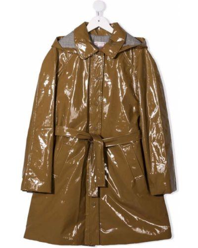 Brązowy klasyczny płaszcz Bonpoint