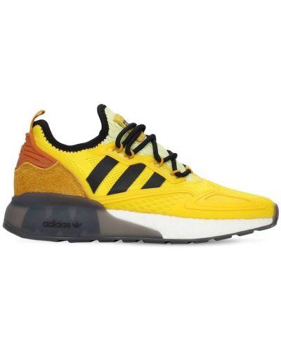 Ażurowy żółty sneakersy na sznurowadłach Adidas Originals