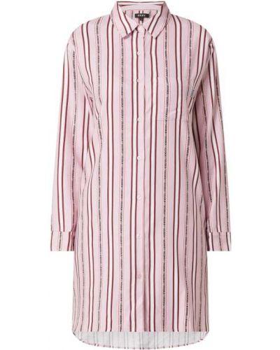 Różowa spodni piżama bawełniana z długimi rękawami Dkny