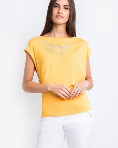 Желтая футболка свободная Finn Flare