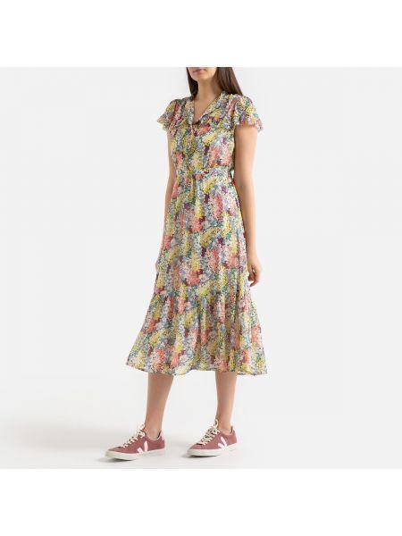 Платье мини миди на пуговицах La Redoute