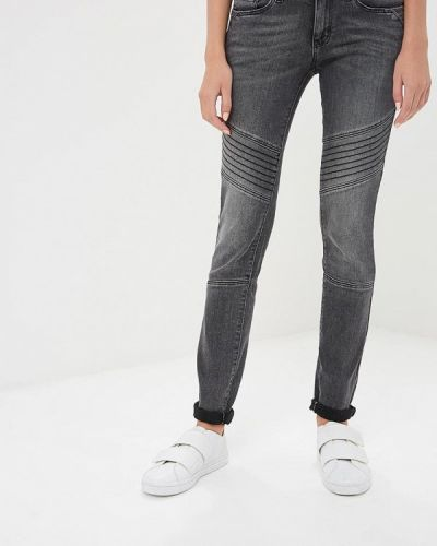 Серые джинсы-скинни Tom Tailor