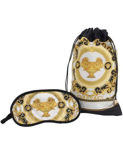 Szlafrok z jedwabiu - biały Versace
