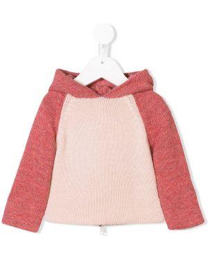 Różowy sweter z kapturem wełniany Oeuf