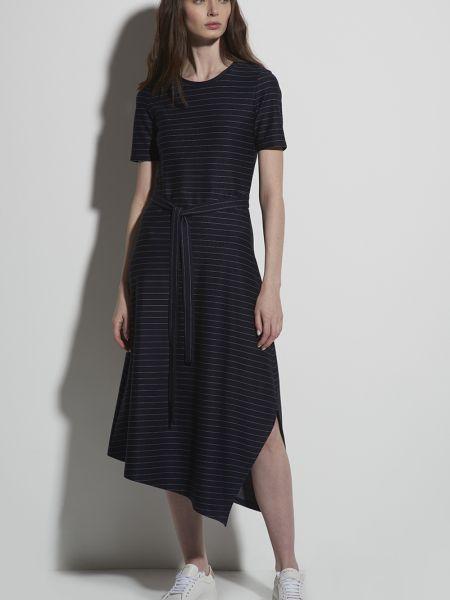 Синее нейлоновое платье Vassa&co