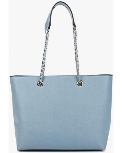 Кожаный сумка с ручками голубой Dorothy Perkins