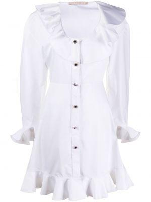 Sukienka długa z długimi rękawami - biała Christopher Kane