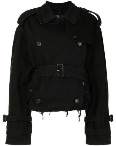 Черная длинная куртка R13