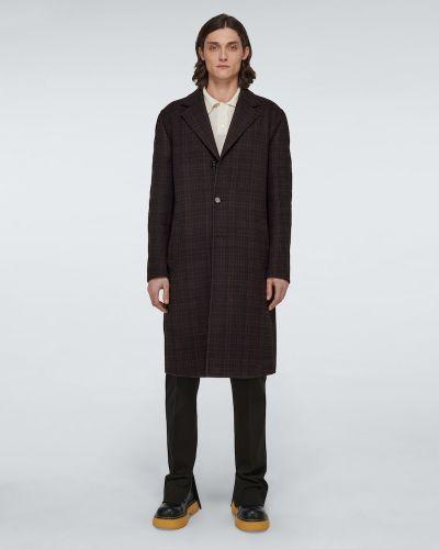 Czarny płaszcz wełniany Bottega Veneta